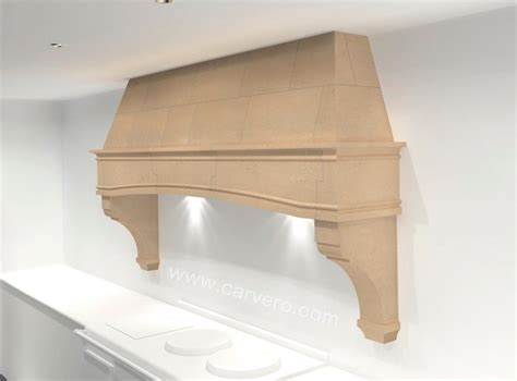 french style traditional kitchen aga stone range hood