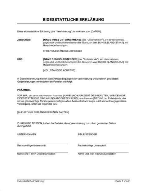 Autoversicherungen Erkl Rung by Gro 223 Artig Vorlage F 252 R Eine Gesetzliche Erkl 228 Rung