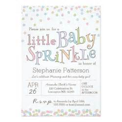 Little baby sprinkle confetti shower invitation spark moments