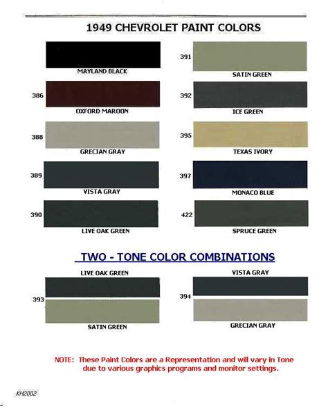 1954 chevrolet truck paint colors pictures to pin on pinsdaddy