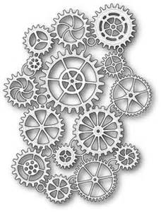 Gears silhouettes vectors clipart svg templates cutting files