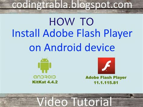 how to get adobe flash player on android codingtrabla install adobe flash player on android device