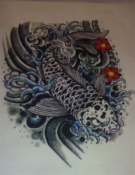 black fish tattoo black koi fish design tattooshunter
