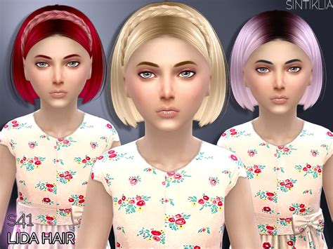 sims 3 hair braid tsr the sims resource over sintikliasims sintiklia hair lida child