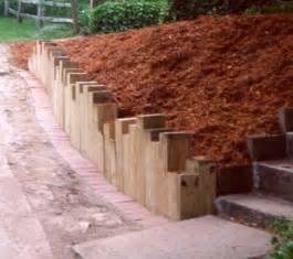 Landscape Timber Wall Construction Landscape Timber Ideas Retaining Walls Gt Timber Walls