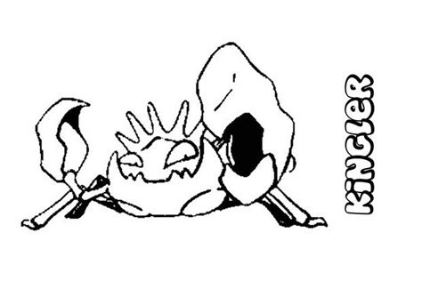 pokemon krabby coloring pages kingler coloring pages hellokids com