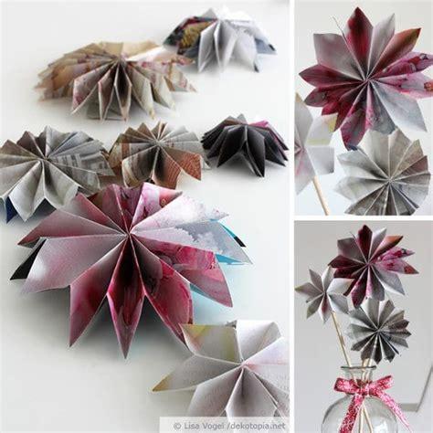Papiersterne Selber Machen by Papiersterne Aus Alten Zeitschriften Handmade Kultur