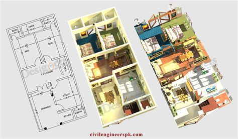 Home Design 6 Marla by 6 Marla House Plans Civil Engineers Pk