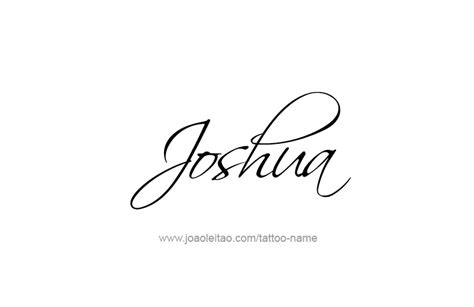joshua name tattoo designs joshua prophet name designs page 2 of 5 tattoos