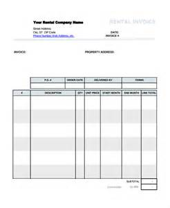 Rent Invoice Template Excel by Rental Invoice Template Excel Templates Invoice