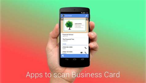 scanner app for android best business card scanner app for android getandroidstuff