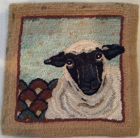 world of rugs gilbert hooked rug wall hanging quot fancy sheep quot hooked by marjorie gilbert rugs hooked by