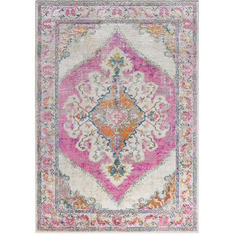 bright pink rug surya marrakesh bright pink 6 ft 7 in x 9 ft 6 in indoor area rug mrh2303 6796 the home depot