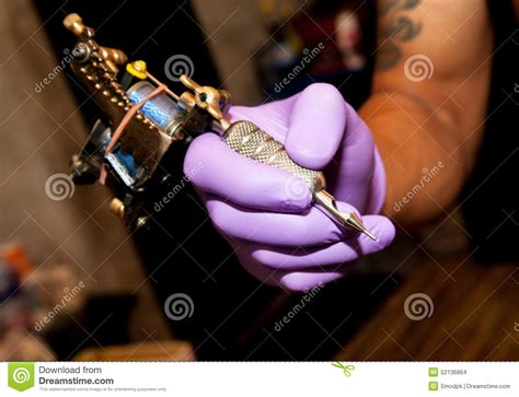 tattoo gun not working close up tattoo hand and machine stock photo image 52136864