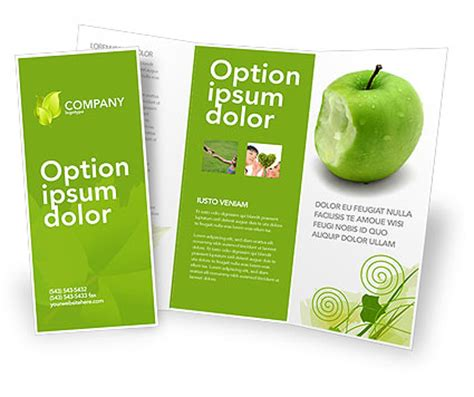 apple brochure templates apple bite brochure template design and layout