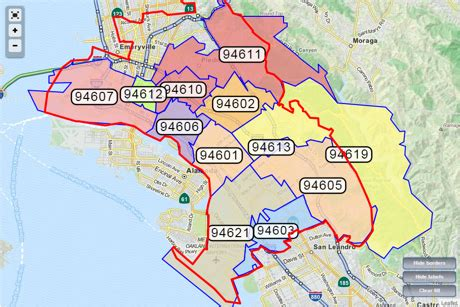 Oakland Ca Zip Code Map by Gallery For Gt California County Map Zip Codes