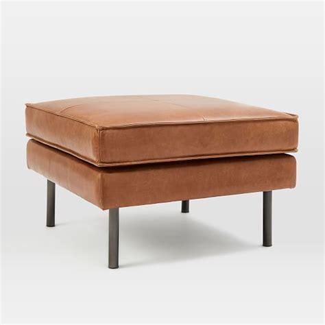 elm leather ottoman axel leather ottoman elm