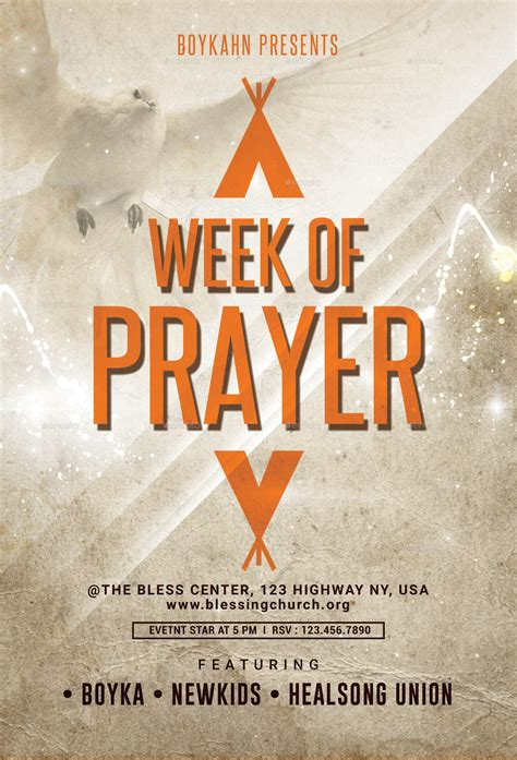 Week Of Prayer Flyer By Boykahn Graphicriver Prayer Flyer Template