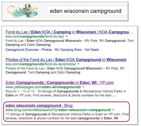 the curious of search results in search results search engine land