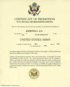 certificate of promotion template awards and certificates memories of edmond lo