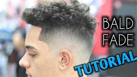 curly fade to fro bald fade tutorial barber mens curly hair on top youtube