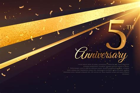 5th Anniversary Card Template by 5th Anniversary Celebration Card Template Free