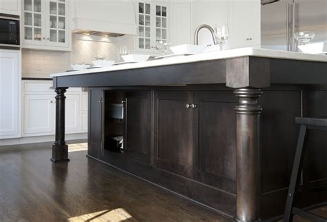 Black Kitchen Island With Storage Cabinets Transitional Kitchen | transitional white kitchen w black island transitional