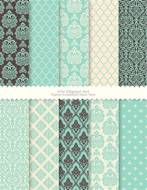 How To Make Digital Scrapbook Paper - digital paper damask digital scrapbook paper pack 8 5x11