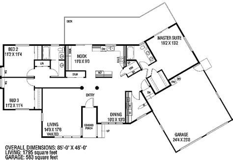irregular lot house plans ranch home with contemporary look 7873ld 1st floor