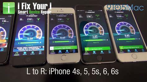 iphone 6s wifi speed test comparison vs 6 vs 5s vs 5 vs 4s