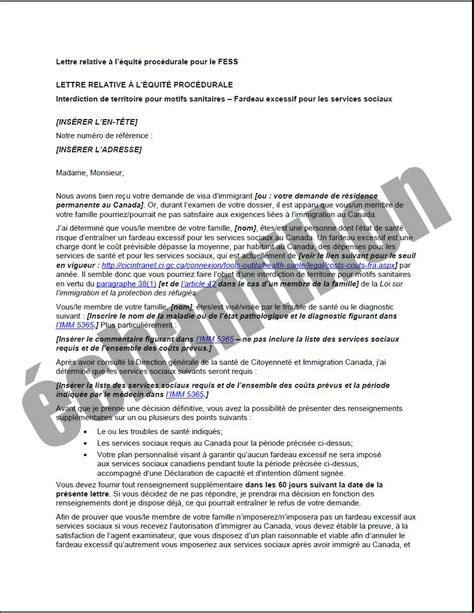 Lettre De Refus Du Visa Espagne exigences m 233 dicales canada ca