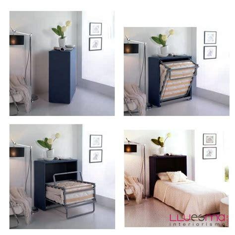 escritorio y librero camas lamas mueble cama y puf cama plegable lluesma interiorismo