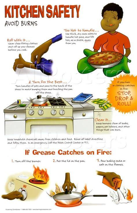 Kitchen Safety by Kitchen Safety Poster Avoid Burns Food Kitchen Safety