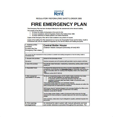 emergency plan template 14 emergency plan templates free sle exle
