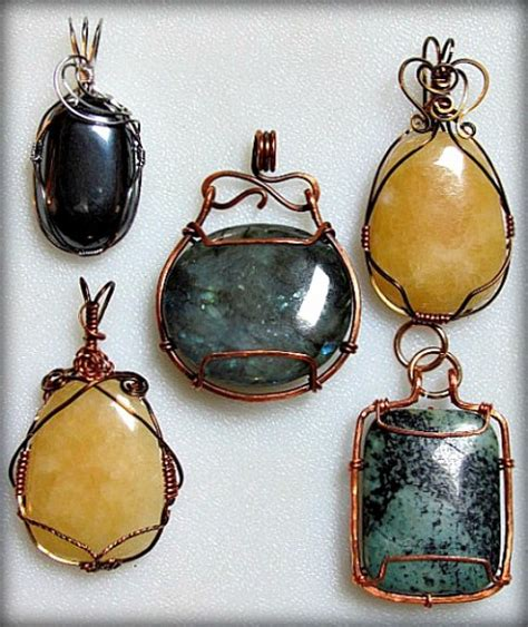 Practicing Wire Wrapping Cab Pendants ? Jewelry Making Journal
