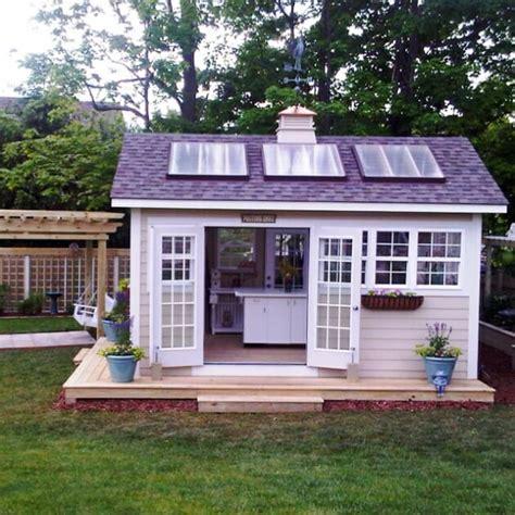 outdoor home   build  solar powered shed modernize