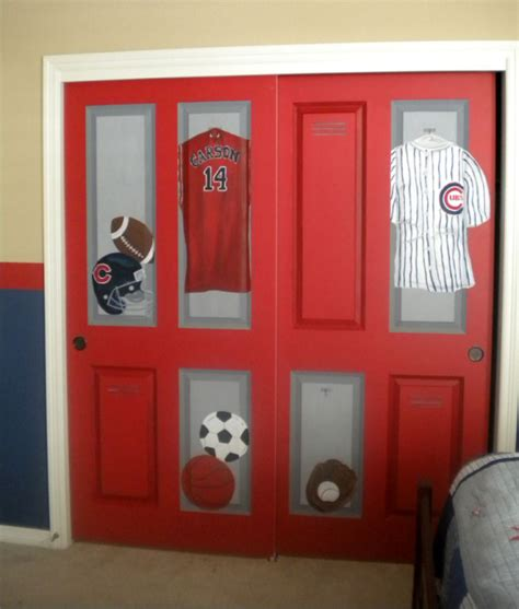 closet of lockers this sports room was created for a