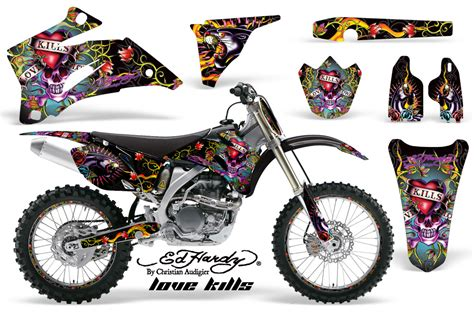 design graphics mx ed hardy yamaha mx graphics kit