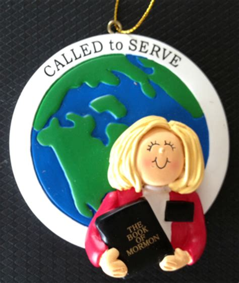 called to serve sister missionary ornament blonde
