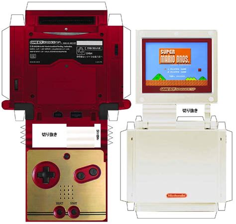 Gameboy Papercraft - gameboy advance sp papercraft museum