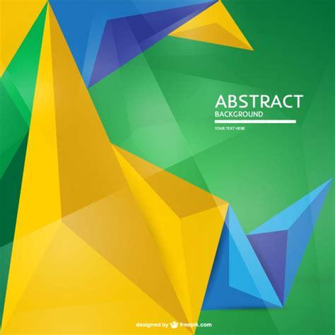 brazil colors geometric brazil flag background vector free