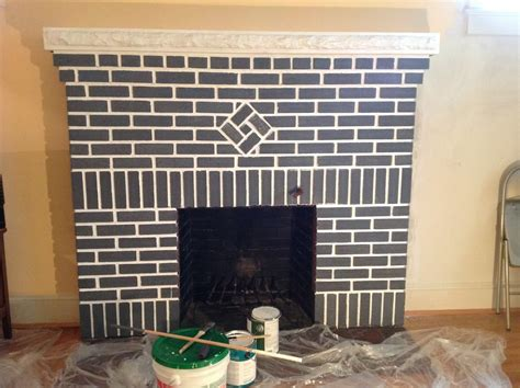 Re Brick Fireplace by How To Paint A Brick Fireplace Infarrantly Creative 2017