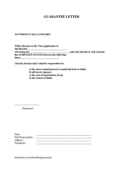Letter Of Attestation From Parent personal loan guarantor letter sle letter of