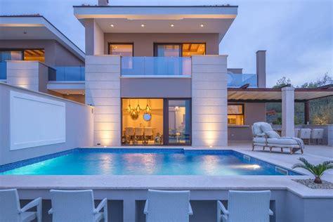 brand new luxury villa with luxury villas resorts private swimming pool lefkada rentals villas luxury villa prova malinska croatia booking com
