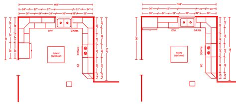 kitchen layouts  dimensions shining home design