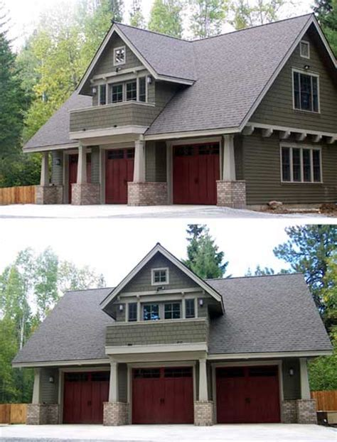 cottage plans with garage double duty 3 car garage cottage w living quarters hq