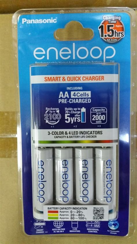 New Panasonic Basic Charger Eneloop Aa 2000mah 4pcs 2100cycle Pti474 buy panasonic eneloop bq cc55 1 5hrs smart and charger deals for only s 59 instead of s 0