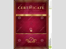 Dark Red Certificate, Diploma Template Stock Image - Image ... Diploma Scroll Vector