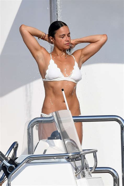 michelle rodriguez yacht michelle rodriguez in bikini on a yacht in sardinia