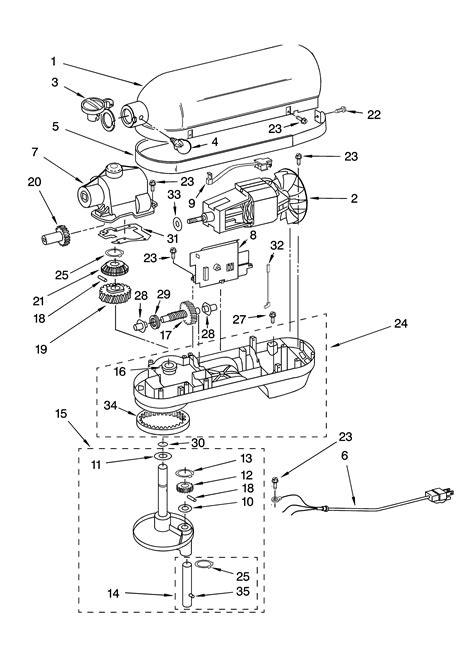 KITCHENAID Mixer Color variation Parts   Model KP26M1XSE4